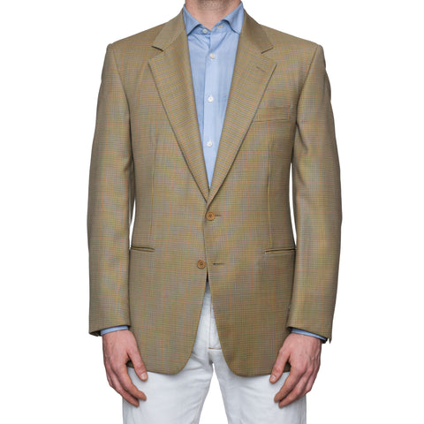 SARTORIA CASTANGIA Gun Club Plaid Wool Sport Coat Jacket EU 52 NEW US 42