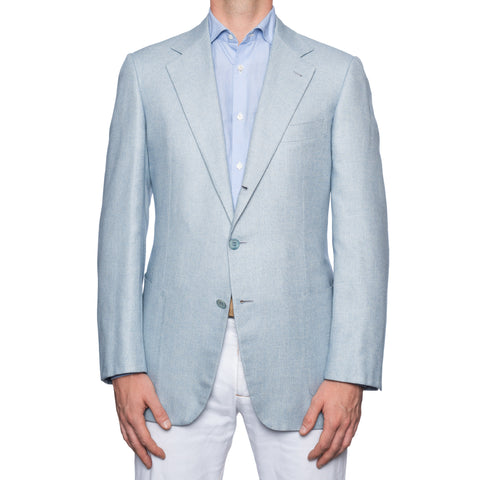 SARTORIA CASTANGIA Light Blue Silk-Cashmere Sport Coat Jacket EU 52 NEW US 42