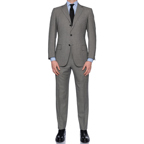 SARTORIA CASTANGIA Gray Birdseye Wool Business Suit EU 48 NEW US 38