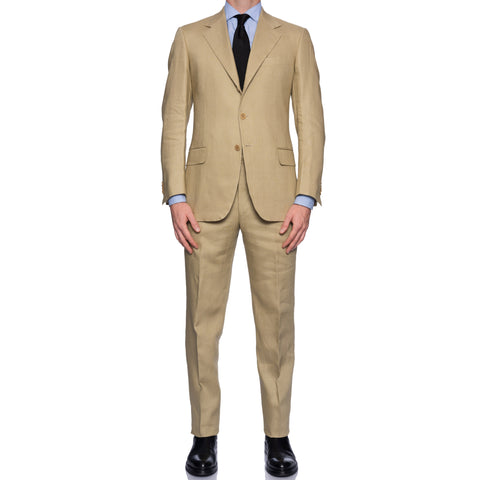 SARTORIA CASTANGIA Hand Made Light Beige Linen Suit NEW