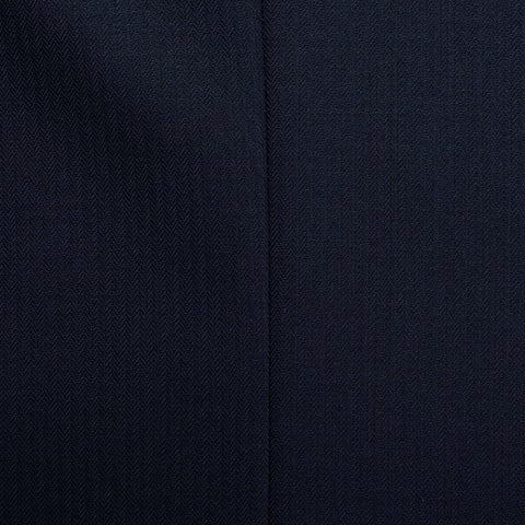 SARTORIA CASTANGIA Navy Blue Herringbone Wool Jacket EU 54 NEW US 44