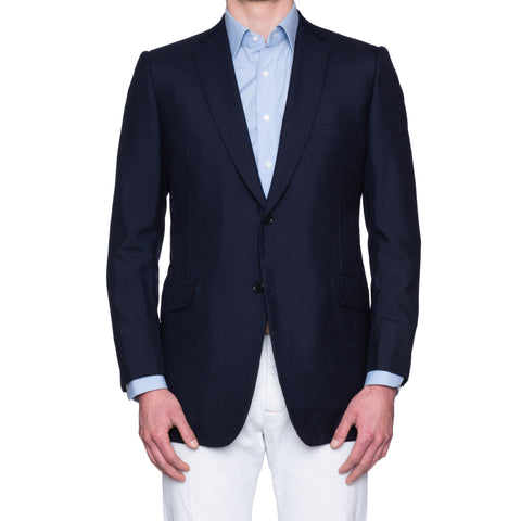 SARTORIA CASTANGIA Navy Blue Lightweight Cashmere Jacket 54 NEW US 44 Slim