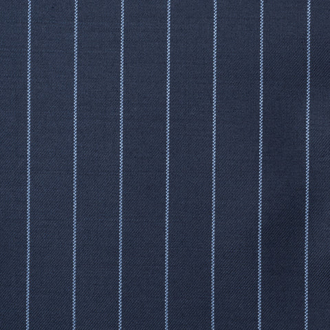 SARTORIA CASTANGIA Navy Blue Striped Wool Super 140's Jacket EU 54 NEW US 44