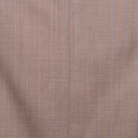 SARTORIA CASTANGIA Taupe Beige Striped Wool Super 120's Suit EU 50 NEW US 40