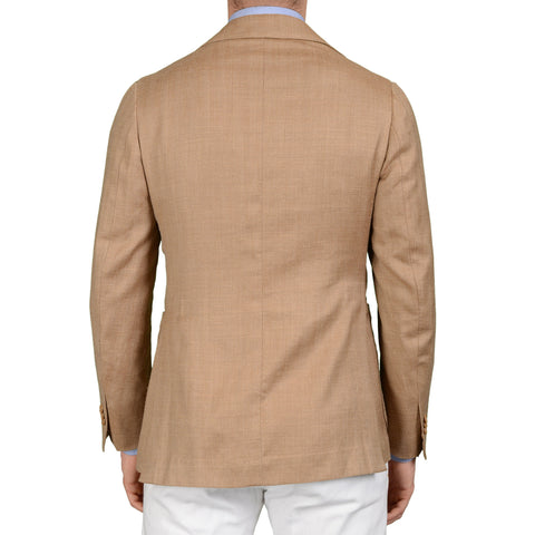 SARTORIA CHIAIA Bespoke Brown Linen-Silk Blazer Jacket EU 48 NEW US 38