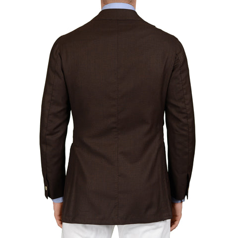 SARTORIA CHIAIA Bespoke Brown Wool Textured Blazer Jacket EU 48 NEW US 38