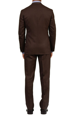 SARTORIA PARTENOPEA Hand Made Napoli Solid Brown Wool Suit NEW - SARTORIALE - 2