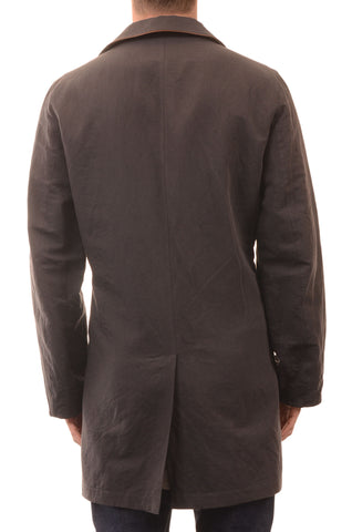 SARTORIO Napoli by KITON Solid Gray Cotton Linen Reversible Basic Coat 50 NEW 40 - SARTORIALE - 2