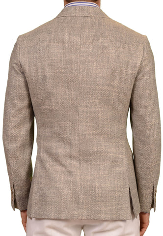 SARTORIO Napoli by KITON Gray Hopsack Wool Silk Blazer Jacket EU 48 NEW US 38