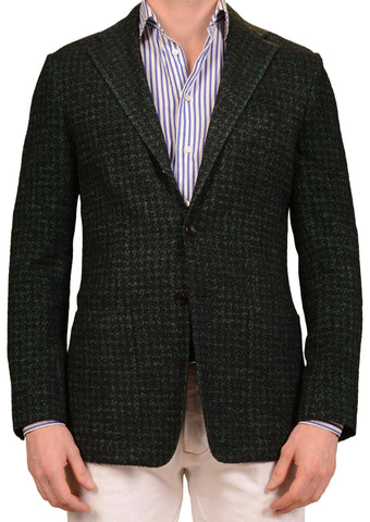 SARTORIO Napoli by KITON Green Wool Cotton Poly Stretch Jacket EU 48 NEW US 38