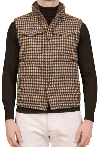 SARTORIO by Kiton PASU Wool Cotton Goose Down Puffer Vest NEW
