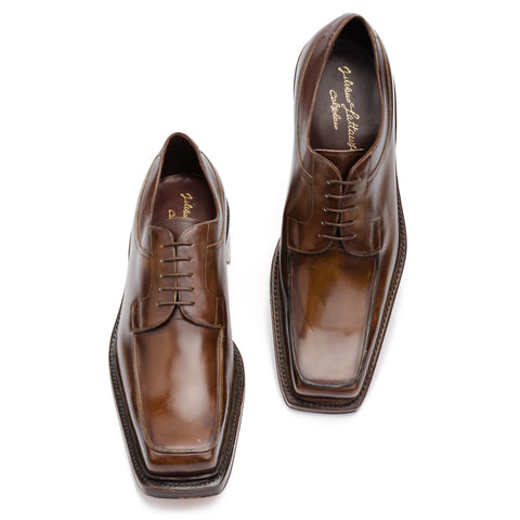 "SILVANO LATTANZI ""709"" Brown Norwegian Derby Dress Shoes NEW US 9"