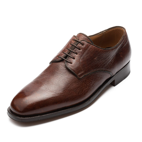 SILVANO LATTANZI Handmade Brown 5 Eyelet Derby Dress Shoes NEW US 9