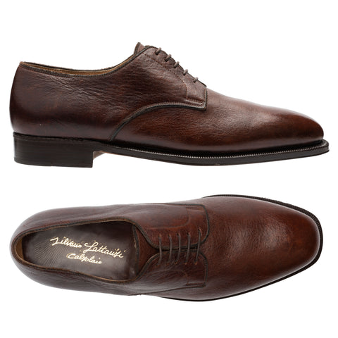 SILVANO LATTANZI Handmade Brown 5 Eyelet Derby Dress Shoes NEW US 8.5