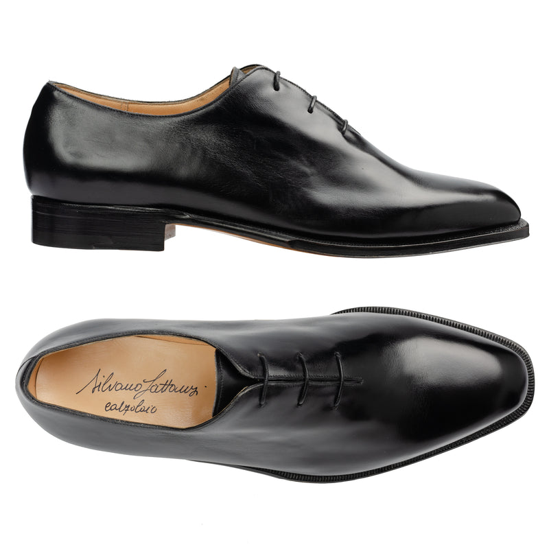 "SILVANO LATTANZI ""Voltaire"" Black Leather Wholecut Dress Shoes NEW US 9.5"