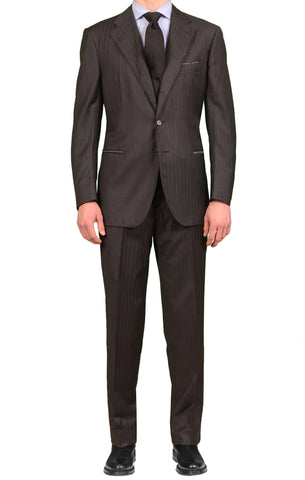 STILE LATINO Gray Striped Wool Super 150's Suit NEW