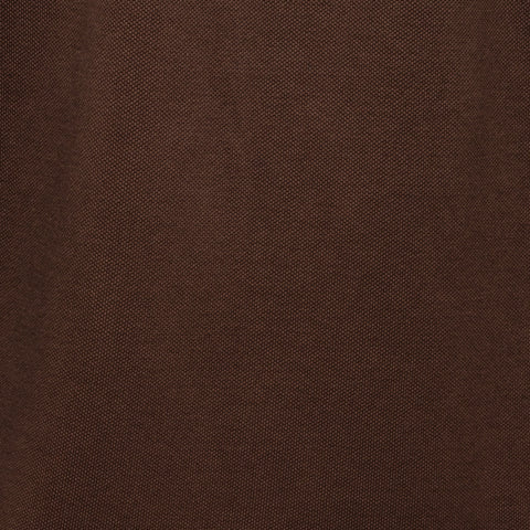 "SanPatrignano for FEDELI Solid Brown ""Dusty System"" Cotton Pique Polo Shirt NEW"
