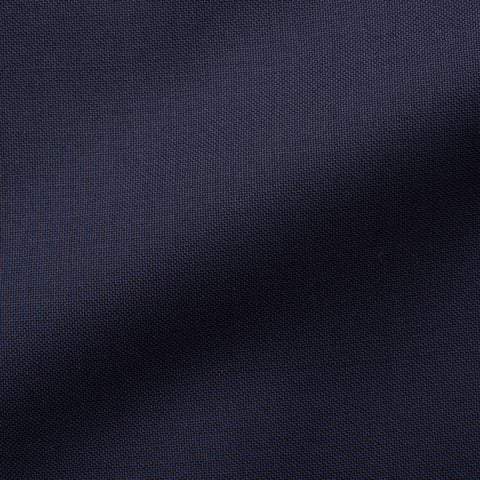 Sartoria CHIAIA Bespoke Handmade Navy Blue Wool DB Jacket EU 44 NEW US 34