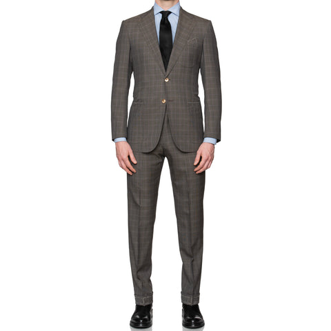 Sartoria PARTENOPEA For PATRICK HELLMANN Wool Super 120's Suit EU 48 NEW US 38