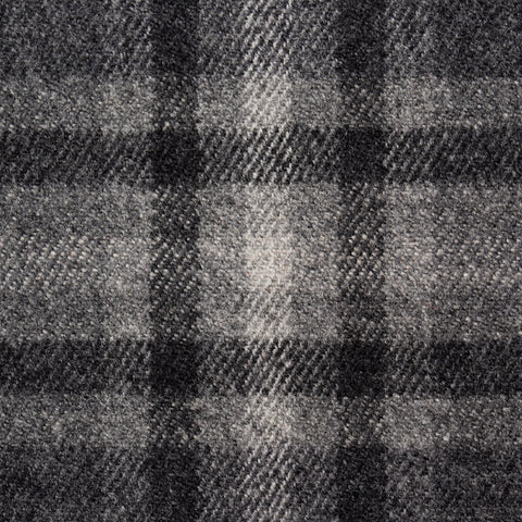 Sartoria PARTENOPEA Hand Made Gray Plaid Wool Cashmere Flannel Jacket 48 NEW 38