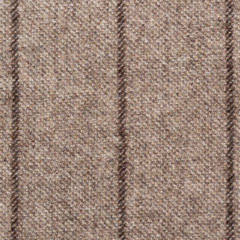Sartoria PARTENOPEA Hand Made Gray Striped Wool Flannel Jacket 50 NEW US 40