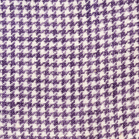 Sartoria PARTENOPEA Hand Made Purple Plaid Linen Jacket Sports US 40 NEW EU 50