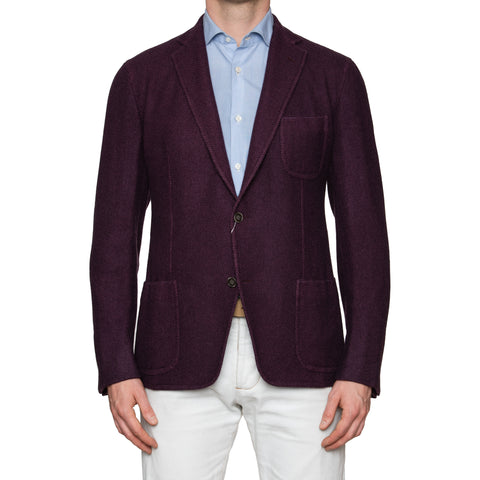Sartoria PARTENOPEA Hand Made Solid Purple Cashmere Jacket Sports Coat NEW