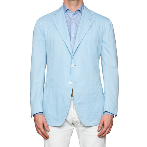 Sartoria PARTENOPEA Handmade Blue Cotton Jacket Sports Coat NEW with Defect