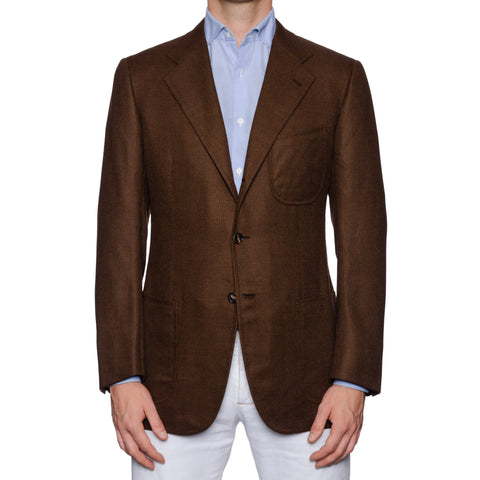 Sartoria Cesare ATTOLINI for BARDELLI Brown Cashmere-Cotton-Silk Jacket 50 NEW 40