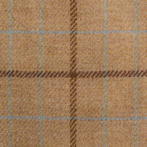 SARTORIA CASTANGIA Beige Plaid Cashmere-Wool Super 110's Jacket 52 NEW US 42