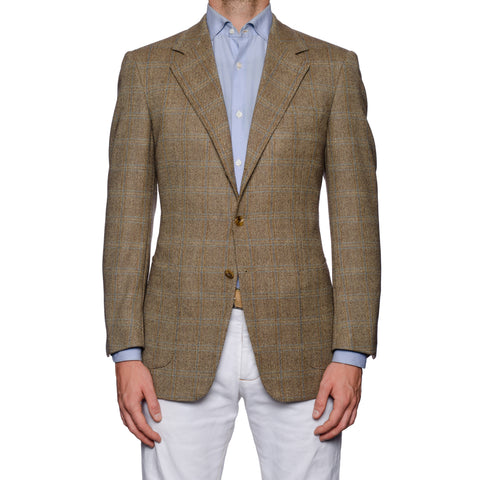 SARTORIA CASTANGIA Beige Merino Wool Super 120's Jacket 48 NEW US 38