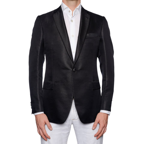 SARTORIA CASTANGIA Black Wool-Silk 1 Button Dinner Jacket EU 50 NEW US 40