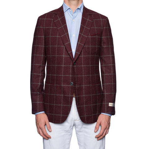 Sartoria CASTANGIA 1850 Burgundy Cotton-Silk Jacket with Silk Lining 50 NEW 40