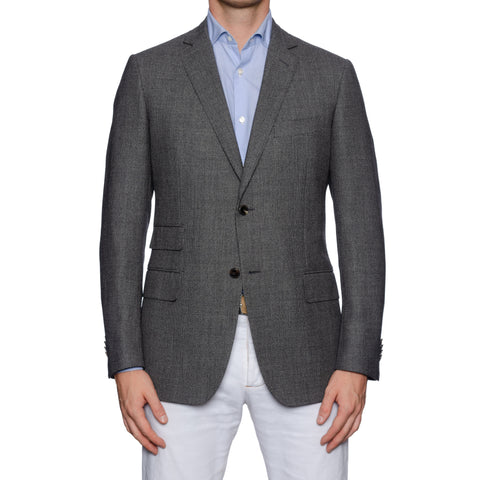 SARTORIA CASTANGIA Handmade Gray Wool Sport Coat Jacket NEW