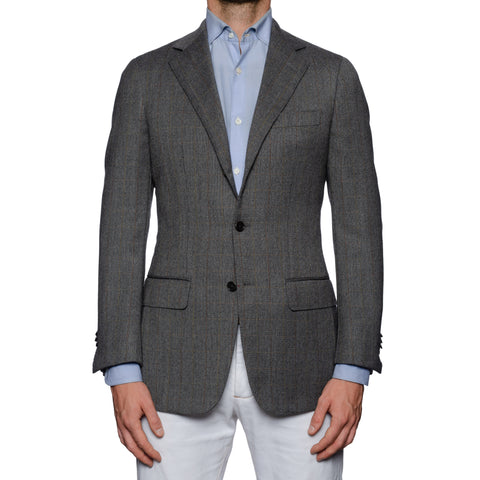 SARTORIA CASTANGIA Handmade Gray Wool Sport Coat Jacket EU 50 NEW US 40