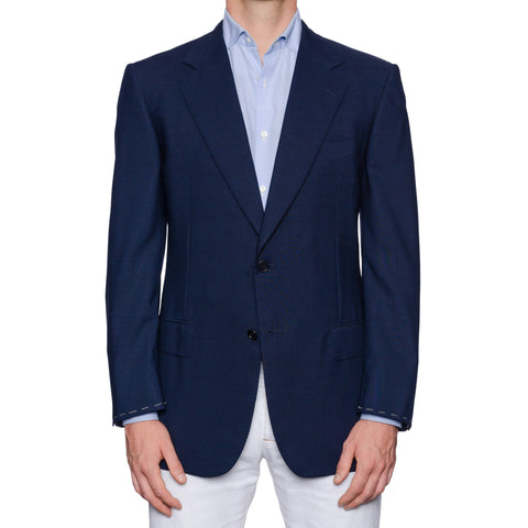SARTORIA CASTANGIA Navy Blue Wool Super 150's Jacket EU 52 NEW US 42