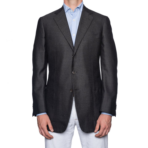 SARTORIA CASTANGIA Gray Wool-Cashmere-Silk Jacket EU 52 NEW US 42