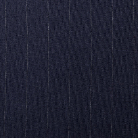 Sartoria CHIAIA Bespoke Handmade Blue Striped Loro Piana Wool Suit 62 NEW 52 Big