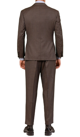 Sartoria CHIAIA Napoli Bespoke Hand Made Brown 3 Piece Suit 52 / 40-42 Short - SARTORIALE - 3