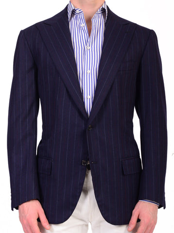 Sartoria CHIAIA Napoli Hand Made Super140 Wool-Cashmere Flannel Jacket 44 NEW 54 - SARTORIALE - 1