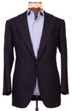 Sartoria CHIAIA HandMade Blue Striped Wool-Cashmere Flannel Jacket 42 NEW 52 - SARTORIALE - 4