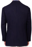 Sartoria CHIAIA HandMade Blue Striped Wool-Cashmere Flannel Jacket 42 NEW 52 - SARTORIALE - 2