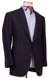 Sartoria CHIAIA HandMade Blue Striped Wool-Cashmere Flannel Jacket 42 NEW 52 - SARTORIALE - 3