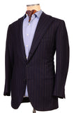 Sartoria CHIAIA HandMade Blue Striped Wool-Cashmere Flannel Jacket 42 NEW 52 - SARTORIALE - 5