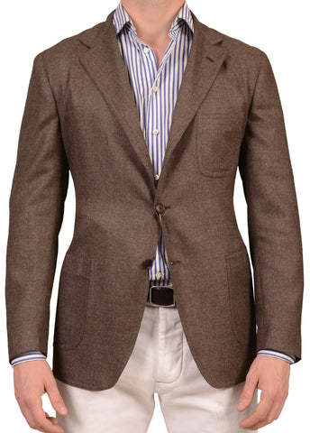 Sartoria PARTENOPEA Hand Made Wool-Cashmere-Silk Jacket EU 50 NEW US 40