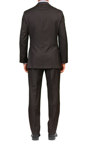 Sartoria PARTENOPEA for Sulka Hand Made Charcoal Gray Super 110's Wool Suit NEW