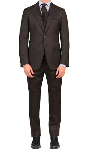 Sartoria PARTENOPEA Hand Made Charcoal Gray Wool Flannel Suit NEW
