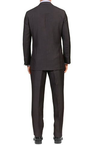 Sartoria PARTENOPEA for SULKA Hand Made Charcoal Gray Wool-Linen Suit NEW
