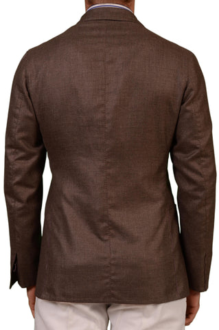 Sartoria PARTENOPEA Hand Made Brown Cashmere-Silk Unconstructed Jacket 50 NEW 40 - SARTORIALE - 2