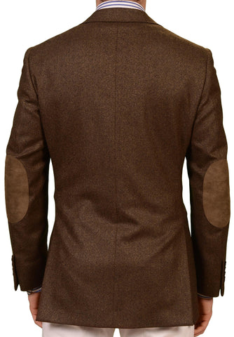 Sartoria PARTENOPEA Hand Made Brown Wool Jacket Elbow Patch US 38 40 NEW EU 50